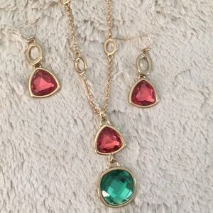 Red and Green Jewelry Set